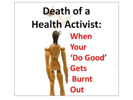 Death of Health Activist